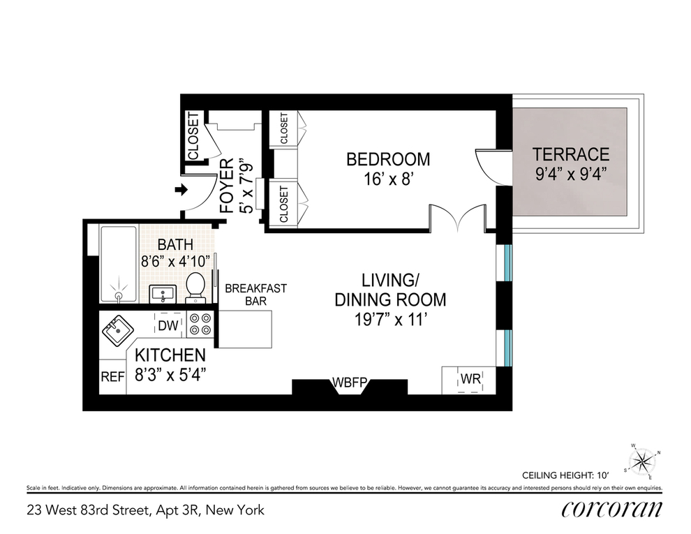 Unit 3R at 23 West 83rd Street, New York, NY 10024