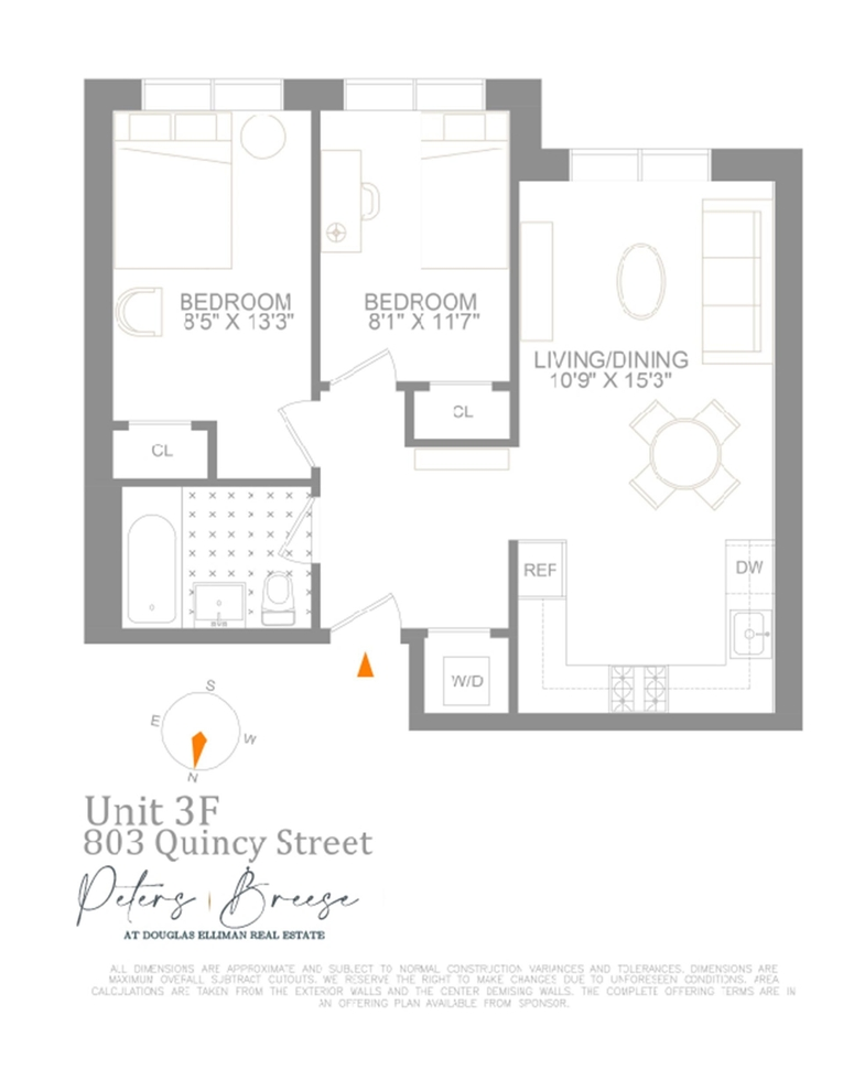 Unit 3F at 803 Quincy Street, Brooklyn, NY 11221