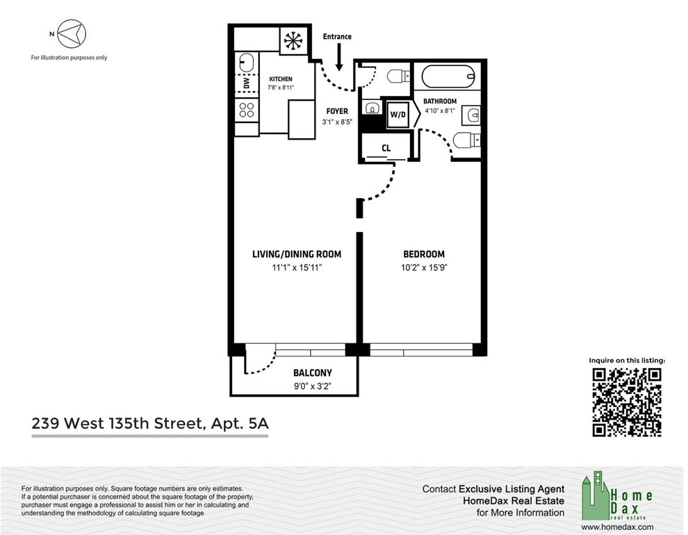 Unit 5A at 239 West 135th Street, New York, NY 10030