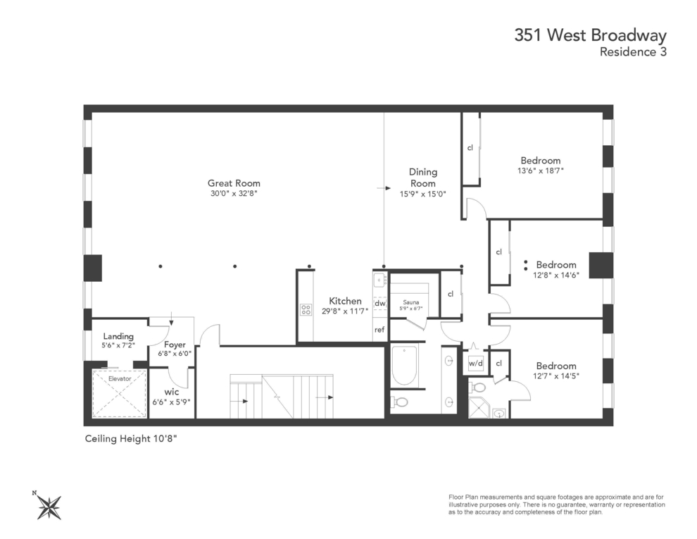 Unit 3 at 351 West Broadway, New York, NY 10013
