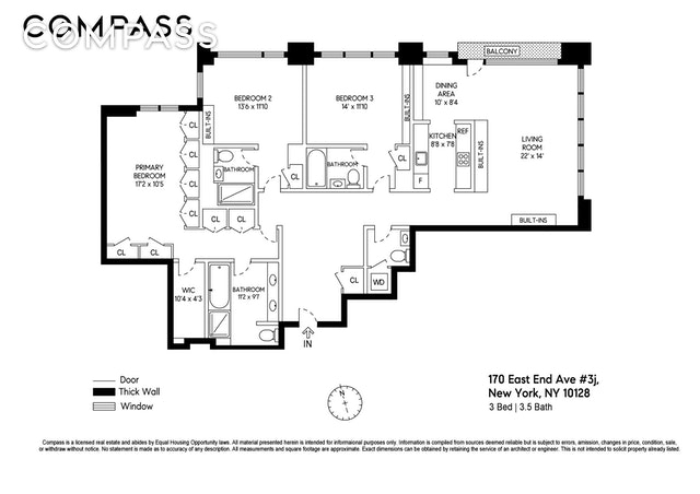 Unit 3J at 170 East End Avenue, New York, NY 10128