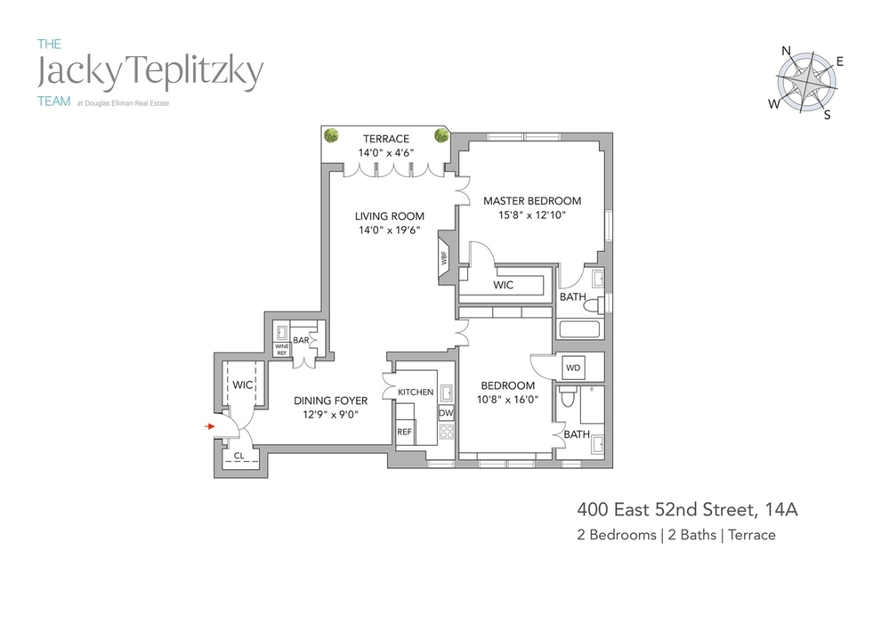Unit 14A at 400 East 52nd Street, New York, NY 10022