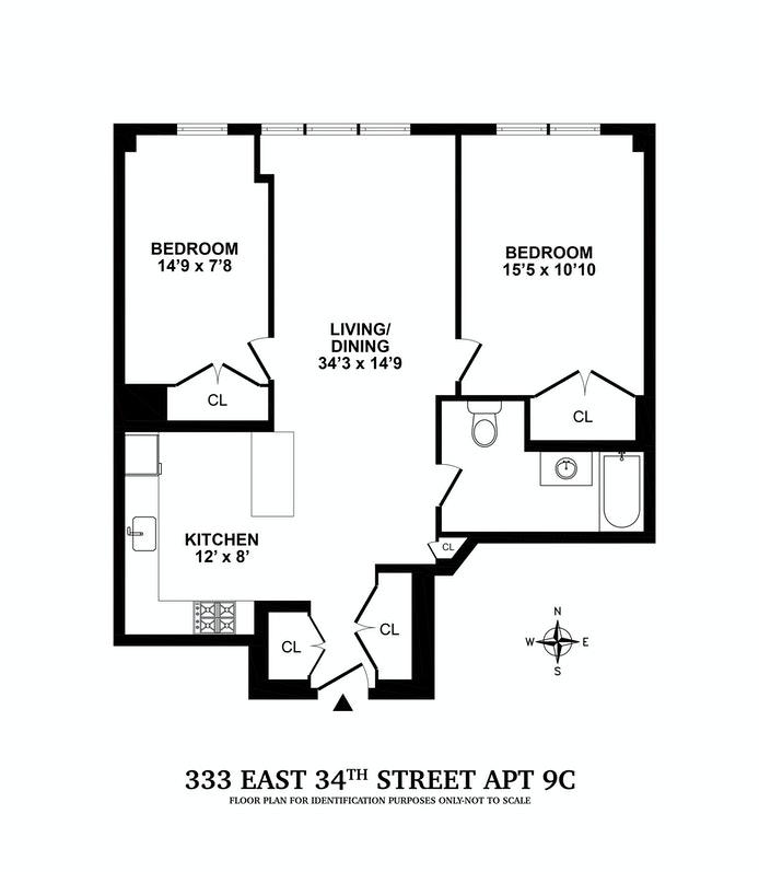 Unit 9C at 333 East 34th Street, New York, NY 10016