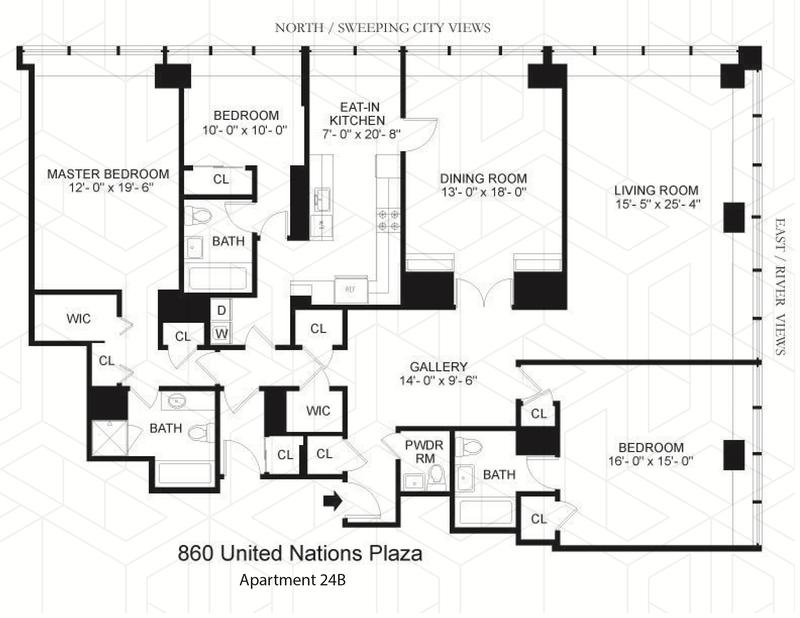 Unit 24B at 860 United Nations Plaza, New York, NY 10017