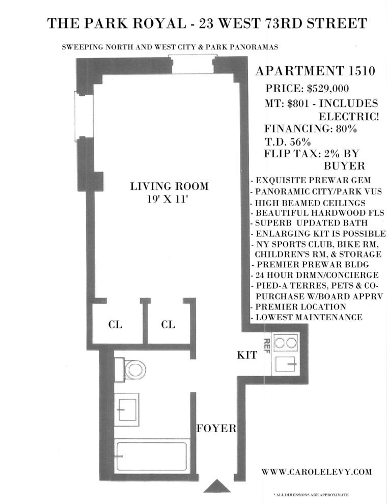 Unit 1510 at 23 West 73rd Street, New York, NY 10023