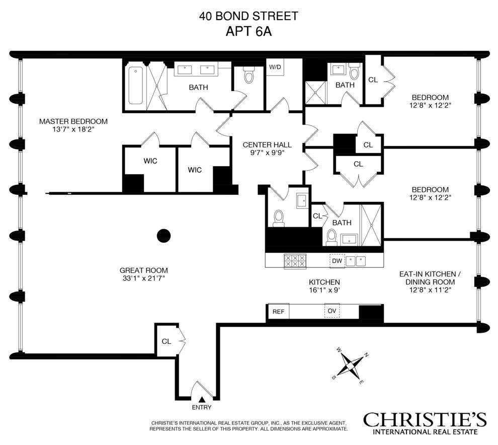 Unit 6A at 40 Bond Street, New York, NY 10012