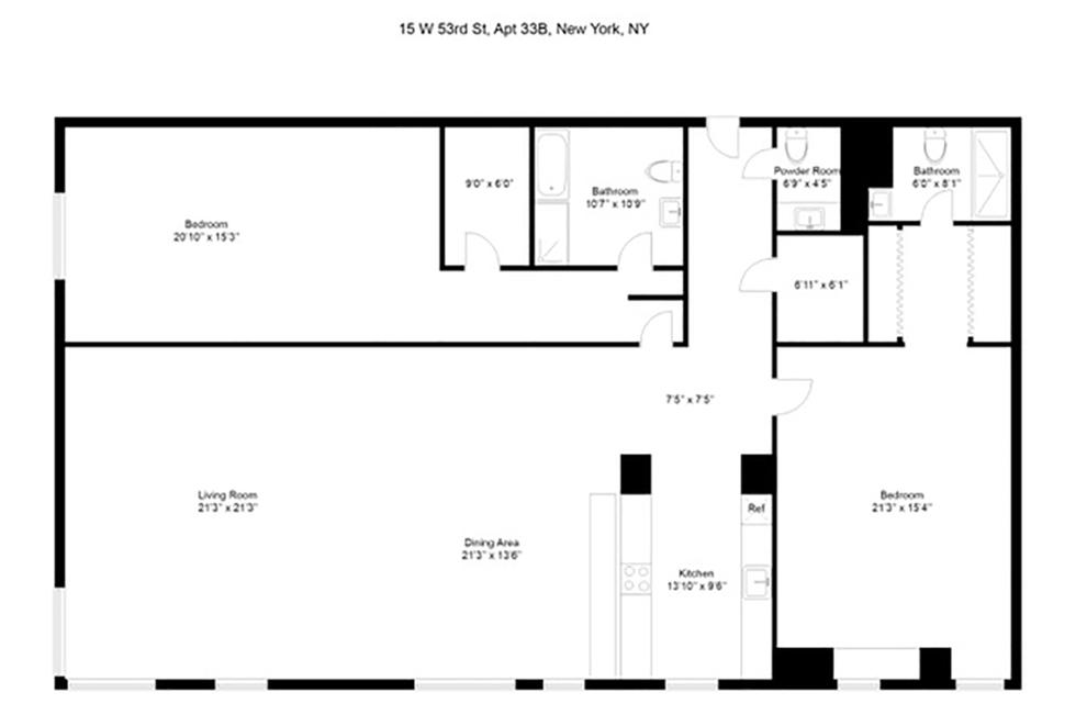 Unit 33B at 15 West 53rd Street, New York, NY 10019