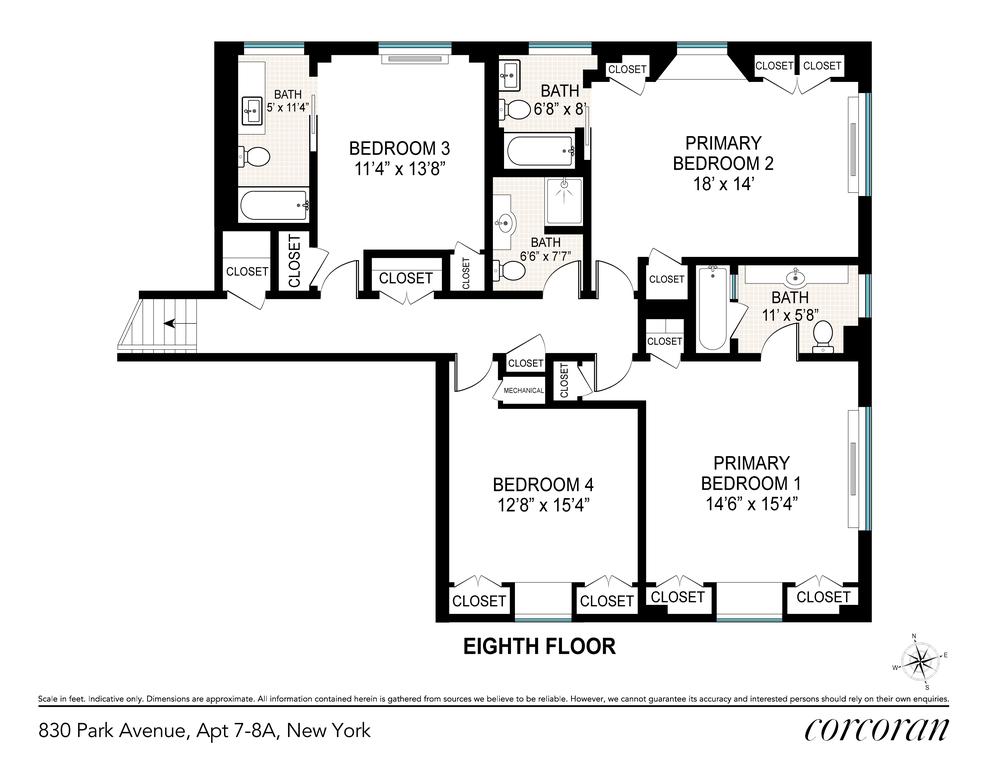 Unit 78A at 830 Park Avenue, New York, NY 10021
