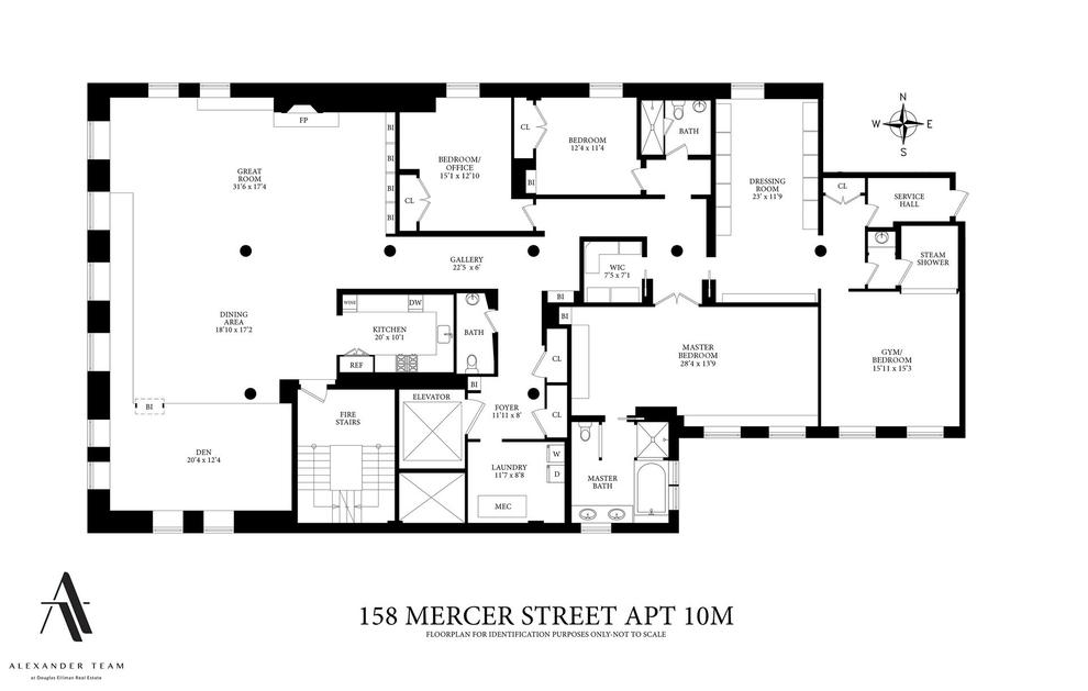 Unit 10M at 158 Mercer Street, New York, NY 10012