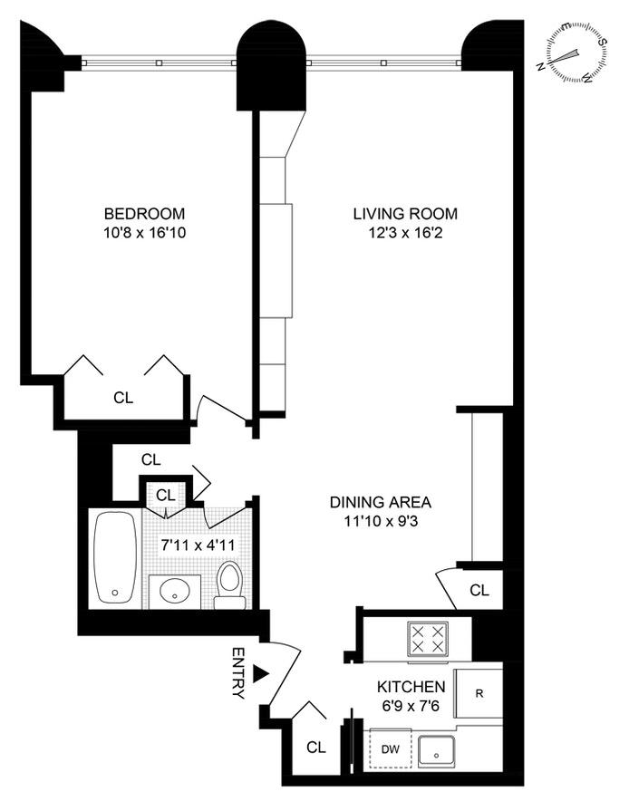 Unit 6E at 44 West 62nd Street, New York, NY 10023