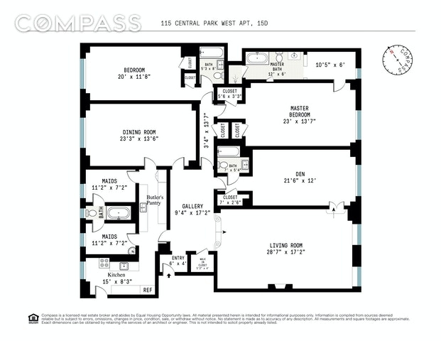 Unit 15D at 115 Central Park West, New York, NY 10023