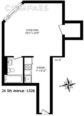 Unit 1528 at 24 5th Avenue, New York, NY 10011