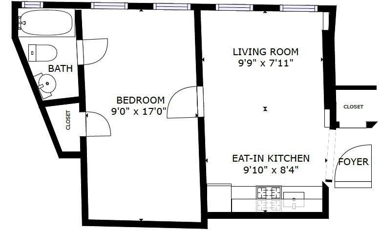 Unit 3F at 400 Lincoln Place, Brooklyn, NY 11238