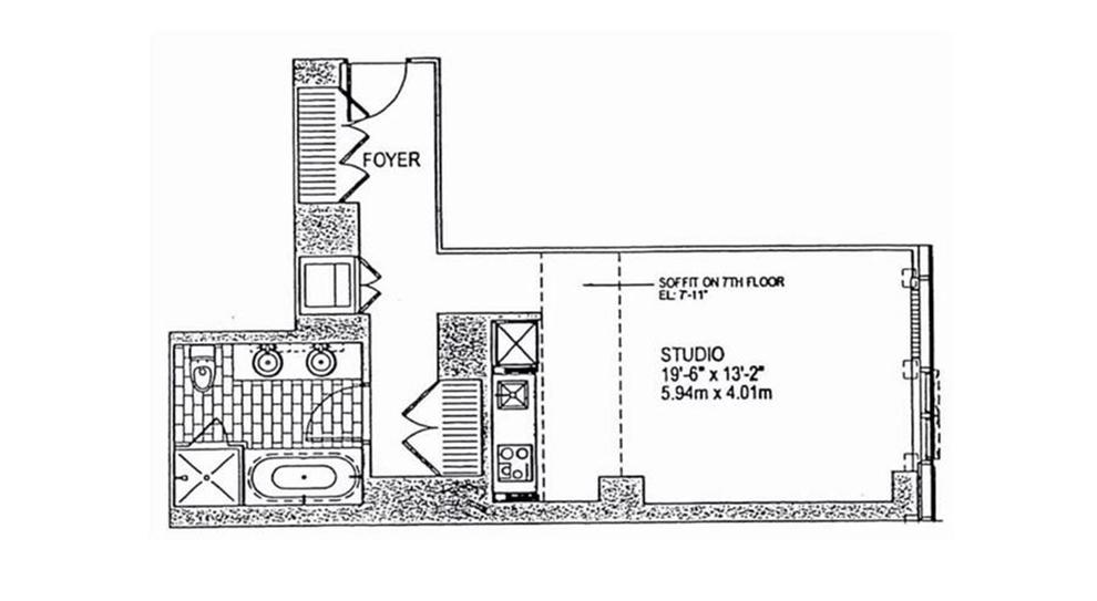Unit 6E at 18 West 48th Street, New York, NY 10036