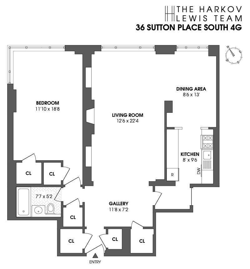 Unit 4G at 36 Sutton Place South, New York, NY 10022
