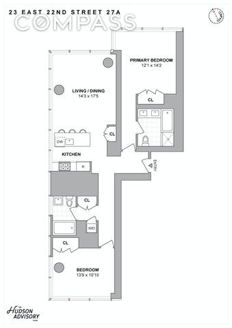 Unit 27A at 23 East 22nd Street, New York, NY 10010