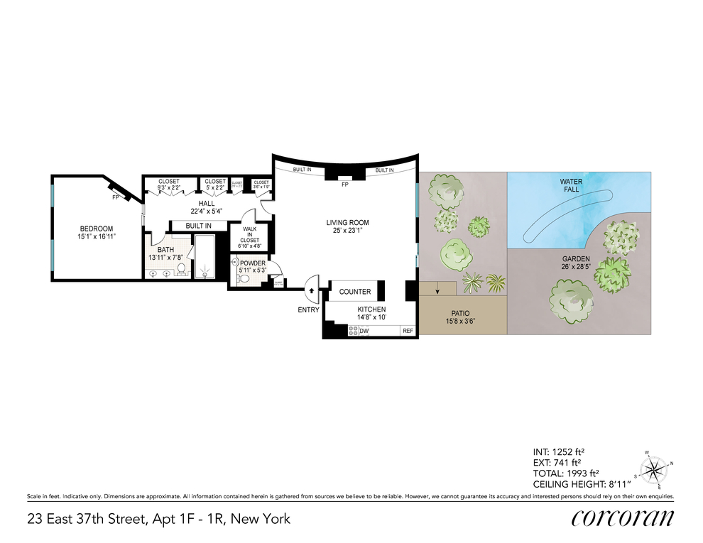 Unit 1F1R at 23 East 37th Street, New York, NY 10016