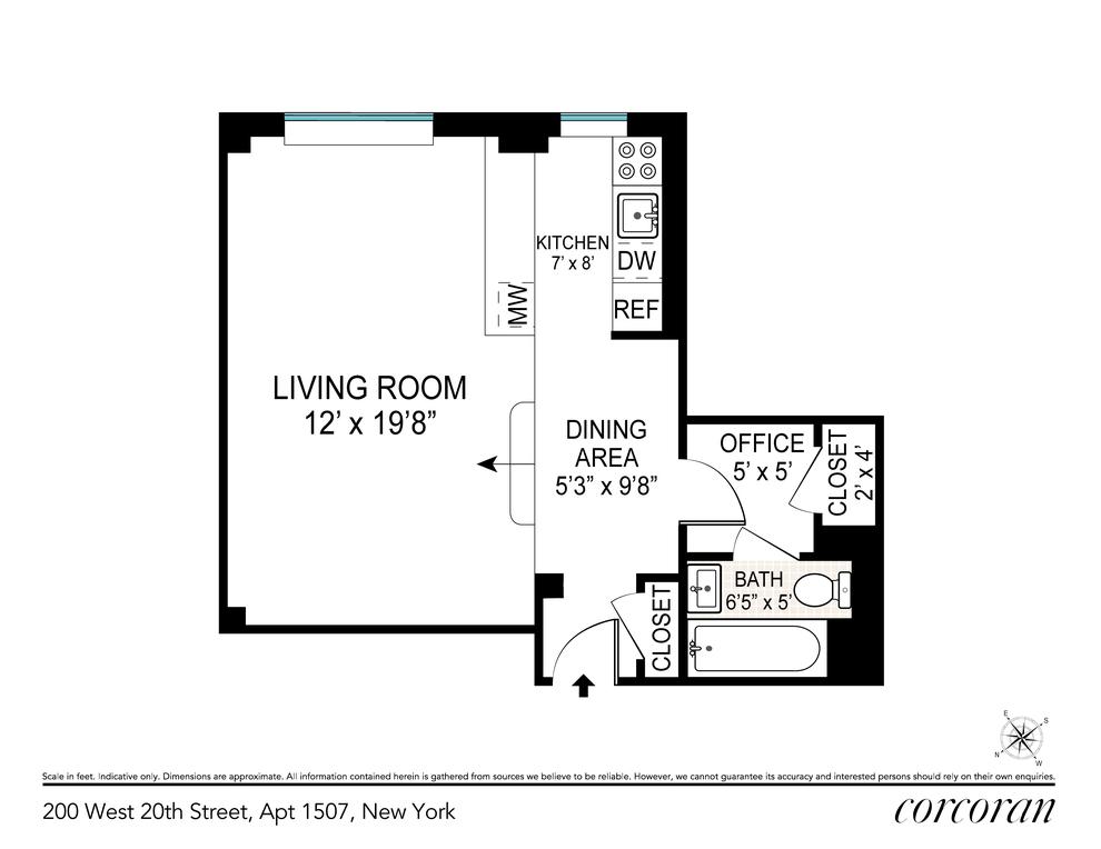 Unit 1507 at 200 West 20th Street, New York, NY 10011