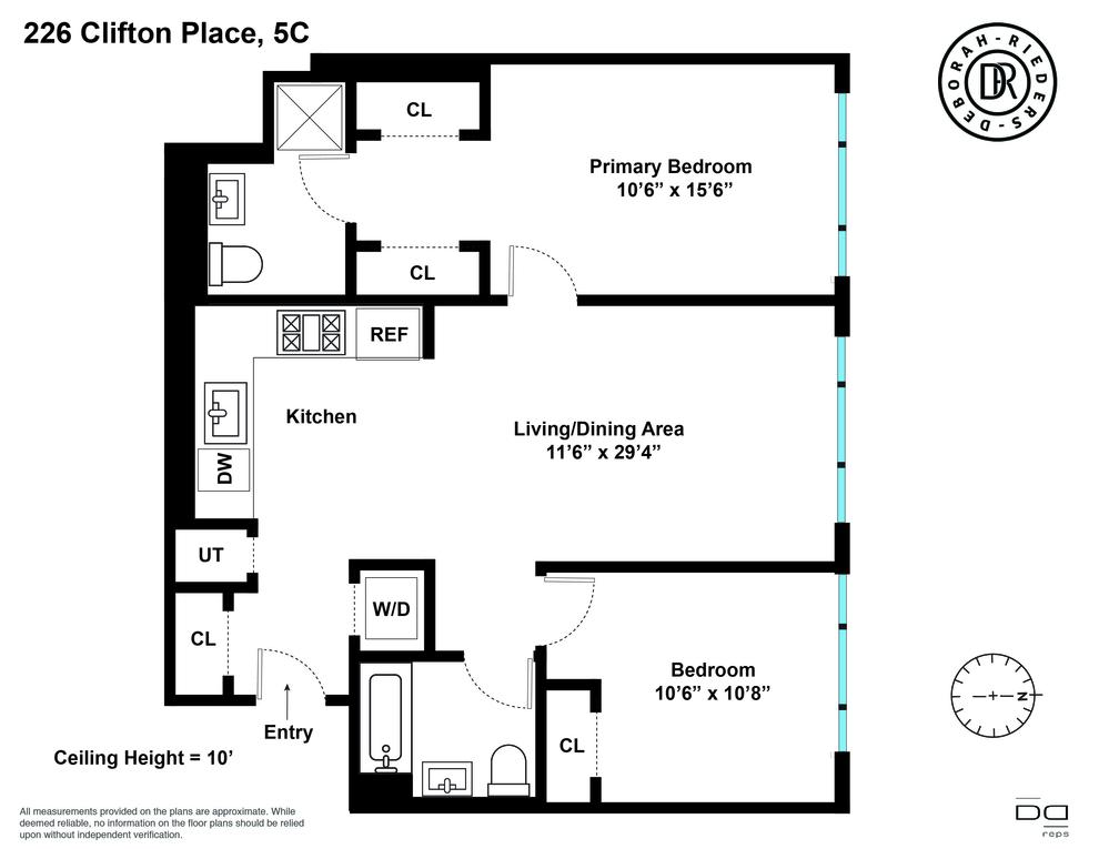 Unit 5C at 226 Clifton Place, Brooklyn, NY 11216