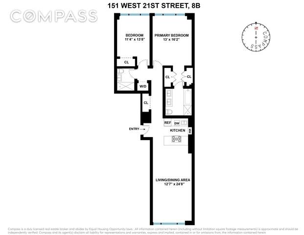 Unit 8B at 151 West 21st Street, New York, NY 10011