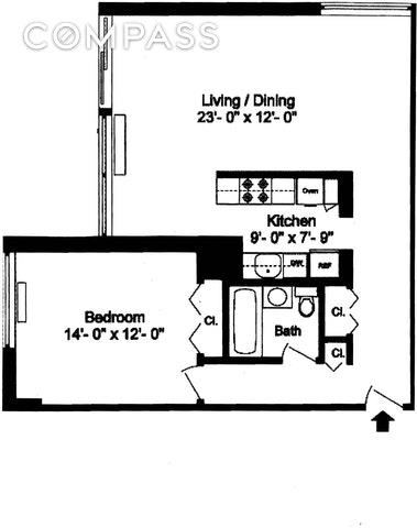 Unit 11A at 170 Park Row, New York, NY 10007