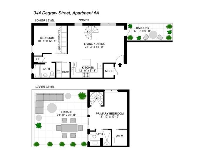 Unit 6A at 344 Degraw Street, Brooklyn, NY 11231