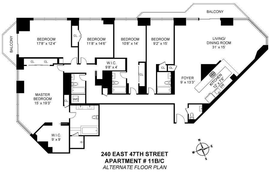 Unit 11BC at 240 East 47th Street, New York, NY 10017