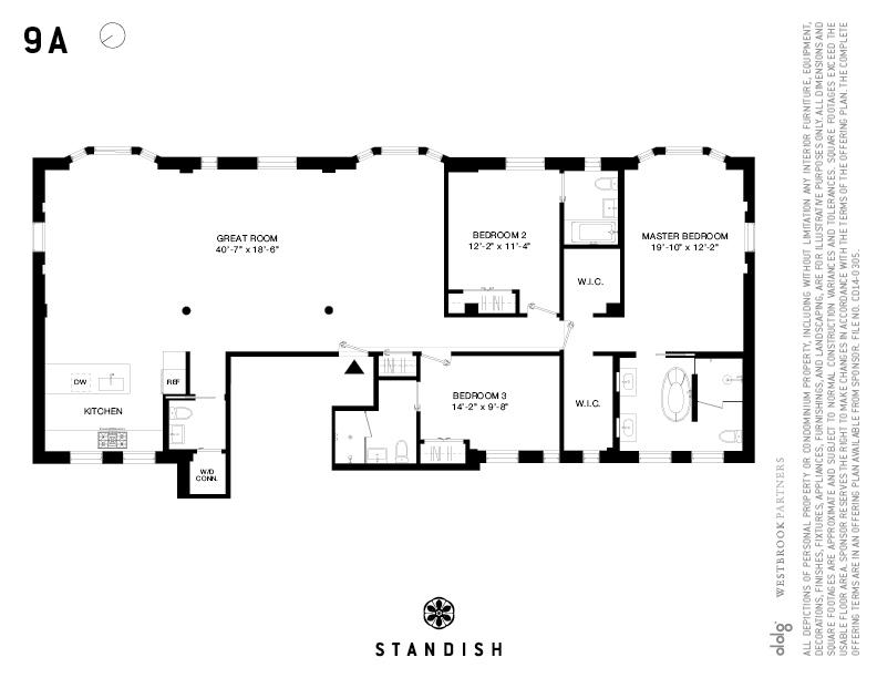 floorplans at 171 columbia heights brooklyn ny 11201. Black Bedroom Furniture Sets. Home Design Ideas