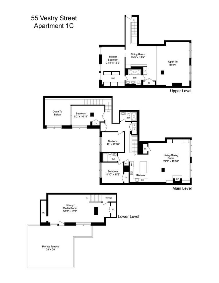 55 Vestry Street #1C, New York, NY 10013: Sales, Floorplans