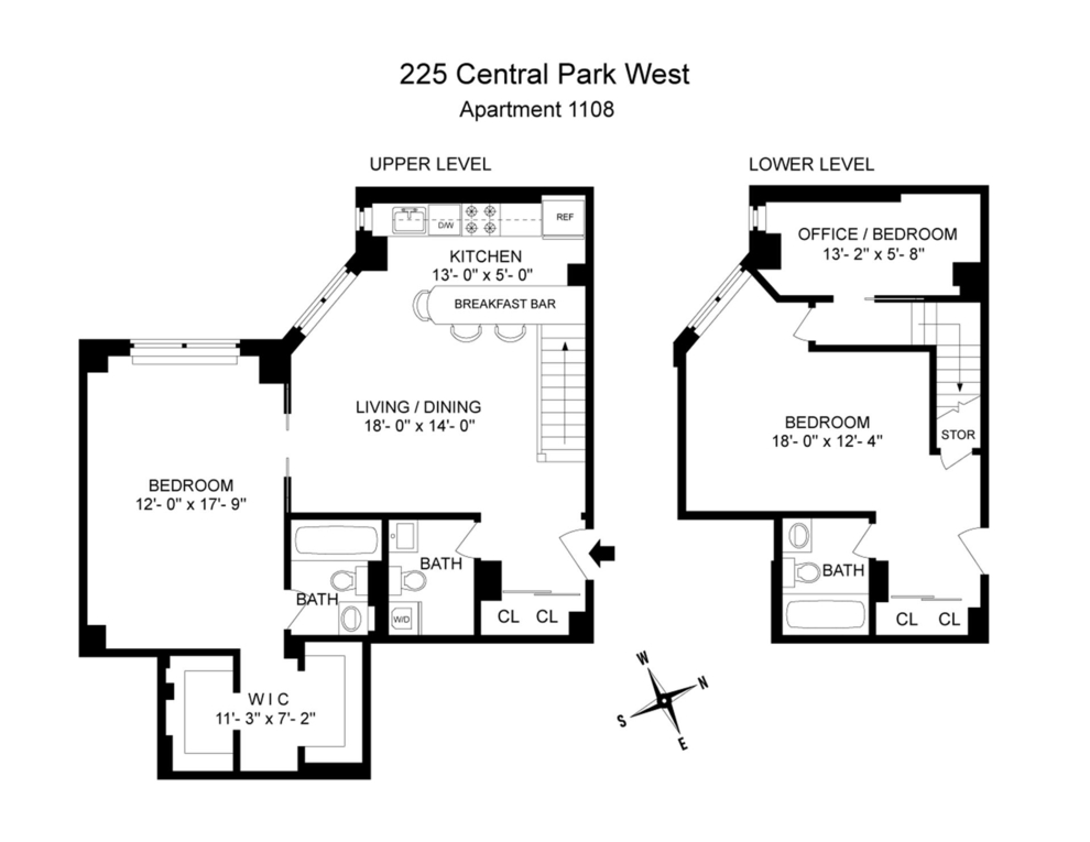 Unit 1108 at 225 Central Park West, New York, NY 10024
