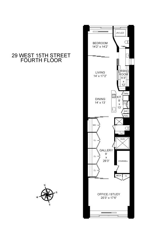 Unit 4FL at 29 West 15th Street, New York, NY 10011