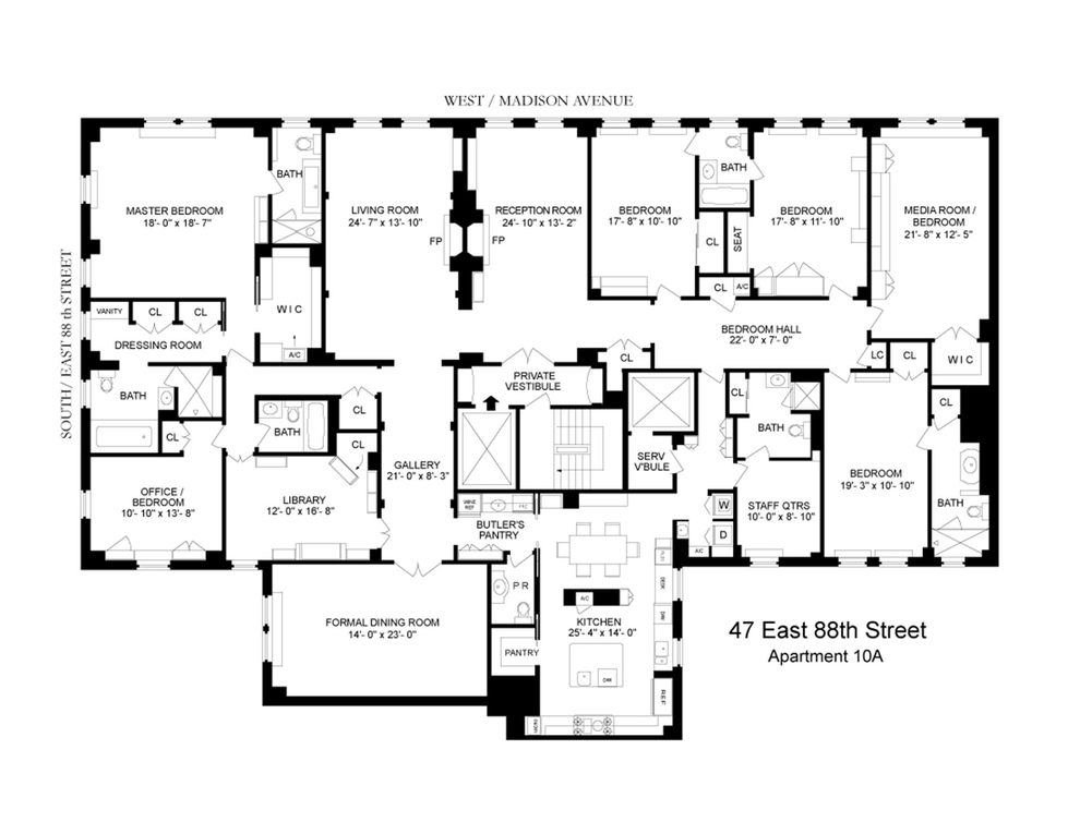 Exceptionnel 47 East 88th Street #10A, New York, NY 10128: Sales, Floorplans, Property  Records | RealtyHop