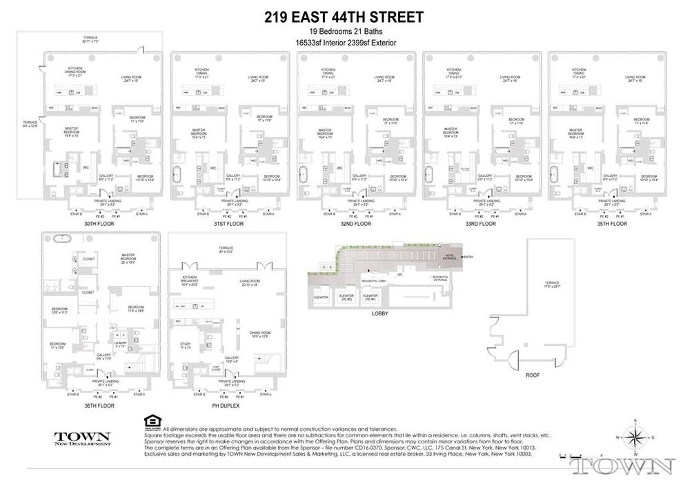Unit PH at 219 East 44th Street, New York, NY 10017