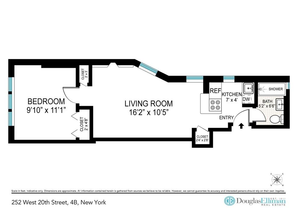 Unit 4B at 252 West 20th Street, New York, NY 10011