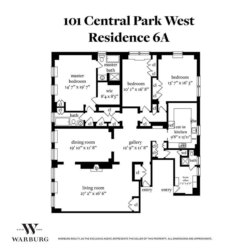 Unit 6A at 101 Central Park West, New York, NY 10023