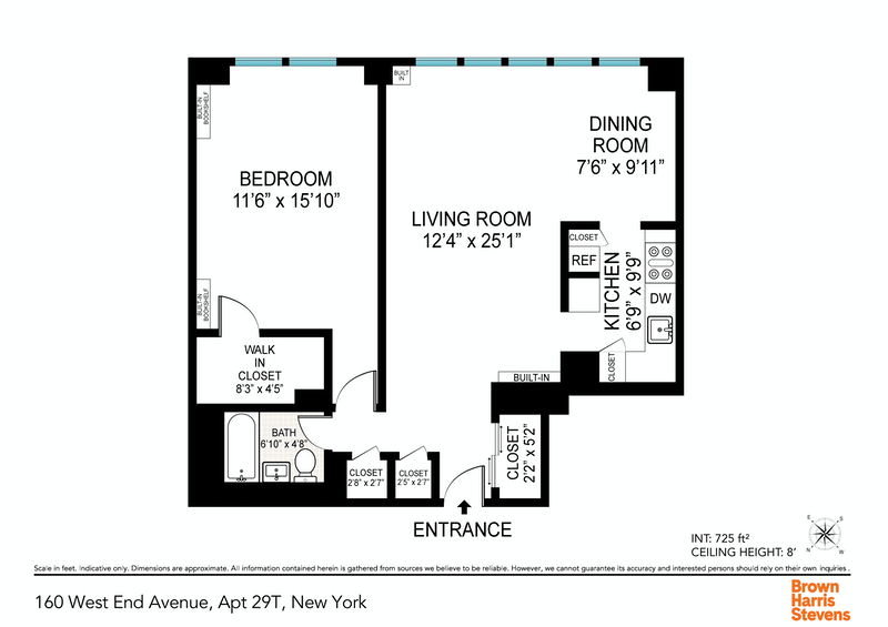 Unit 29T at 160 West End Avenue, New York, NY 10023