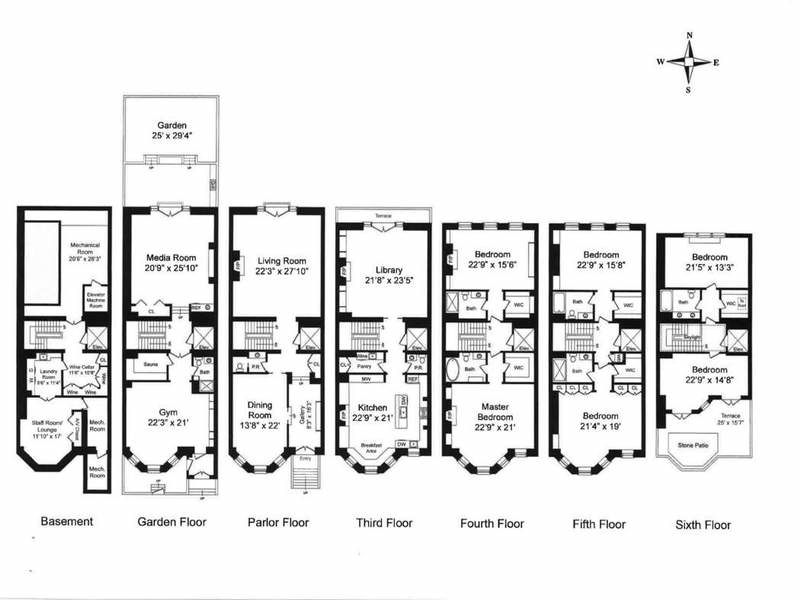 3 East 94th Street #HOUSE, New York, NY 10128: Sales, Floorplans