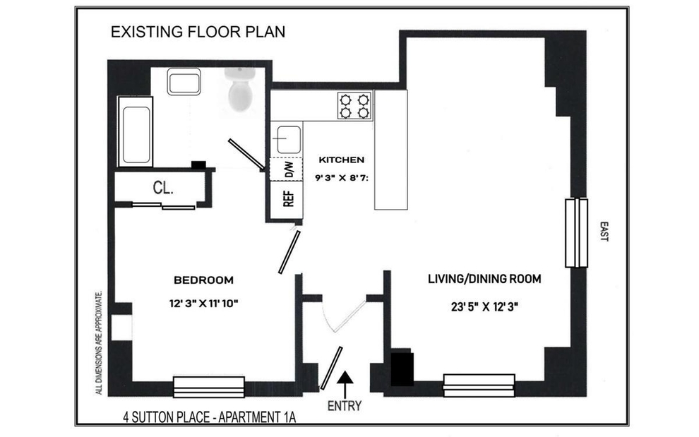 Unit 1 at 4 Sutton Place, New York, NY 10022