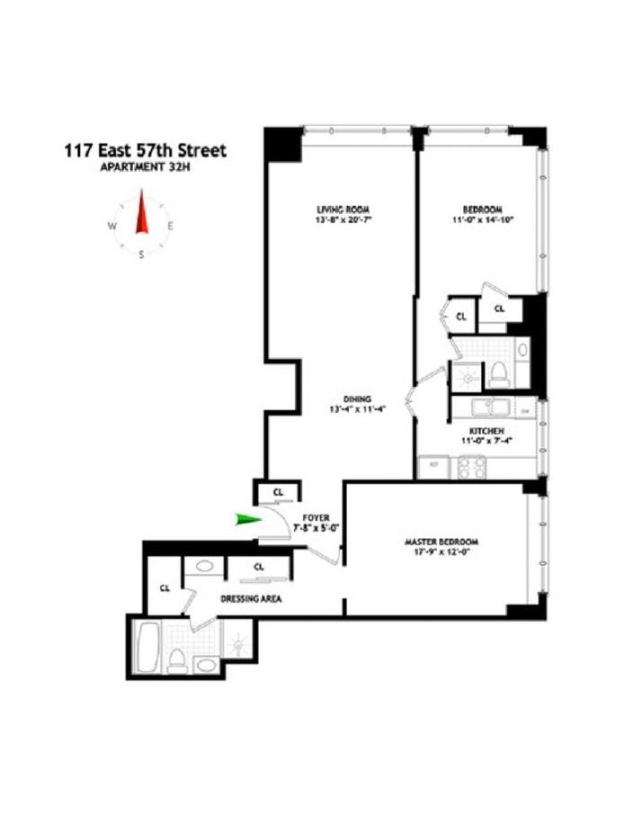 Unit 32H at 117 East 57th Street, New York, NY 10022