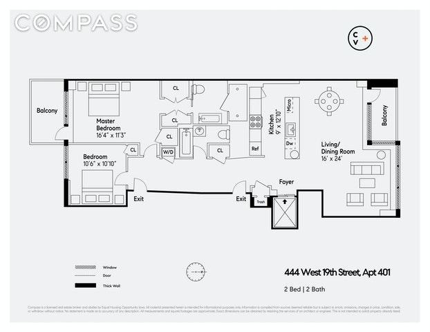 Unit 401 at 444 West 19th Street, New York, NY 10011