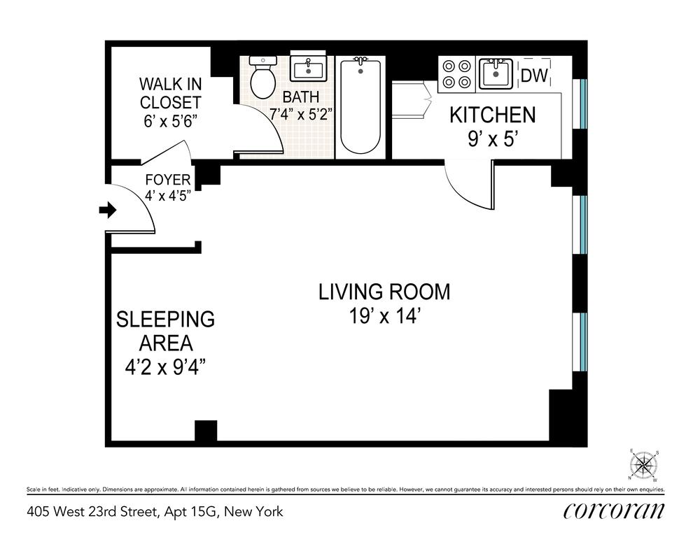 Unit 15G at 405 West 23rd Street, New York, NY 10011