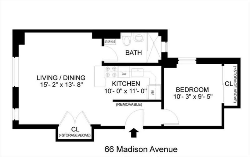Unit 8L at 66 Madison Avenue, New York, NY 10016