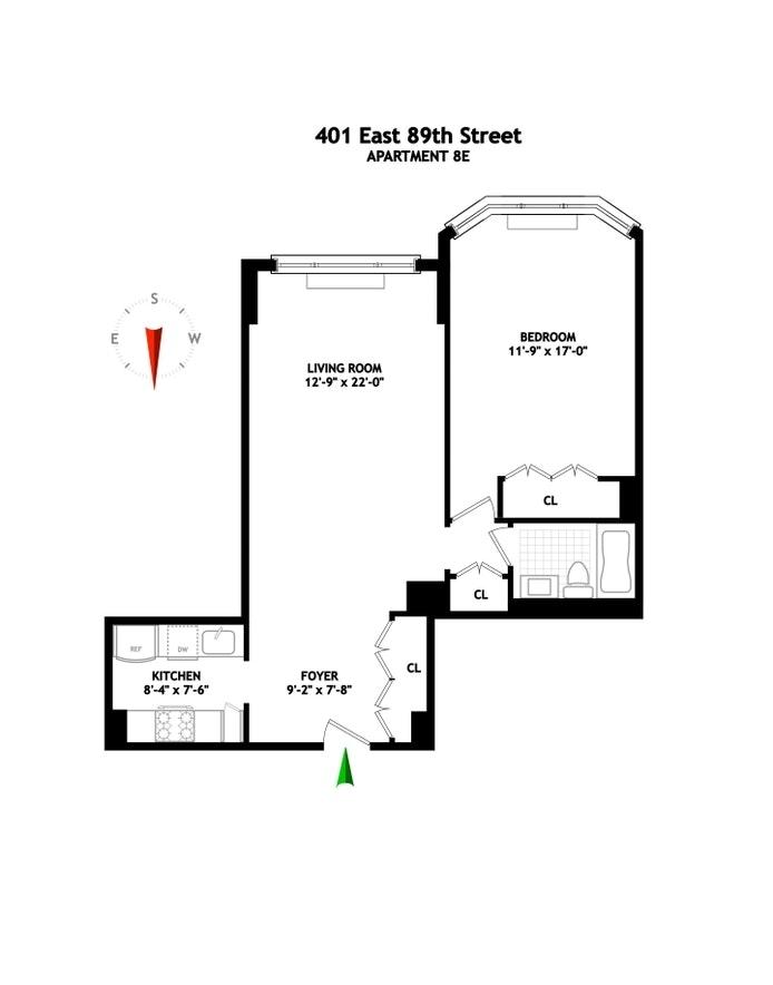 Unit 8E at 401 East 89th Street, New York, NY 10128
