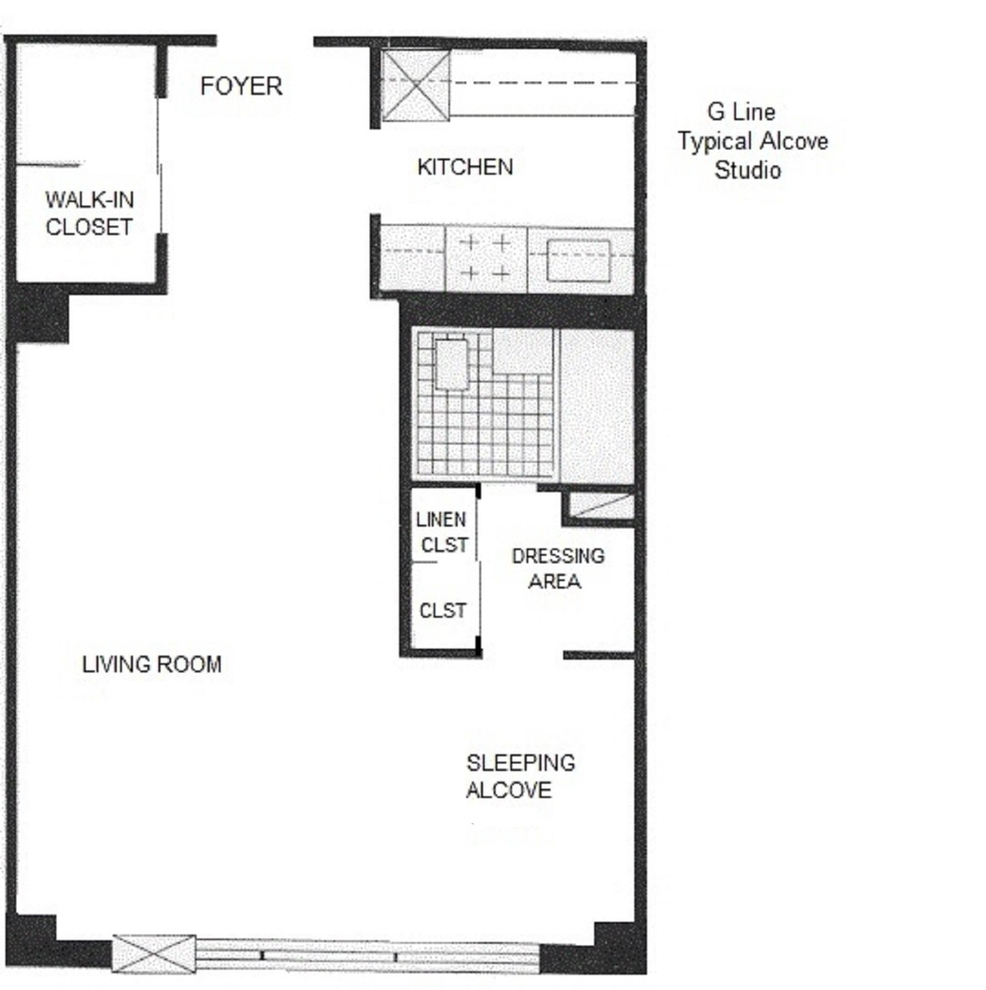 Unit 7G at 392 Central Park West, New York, NY 10025