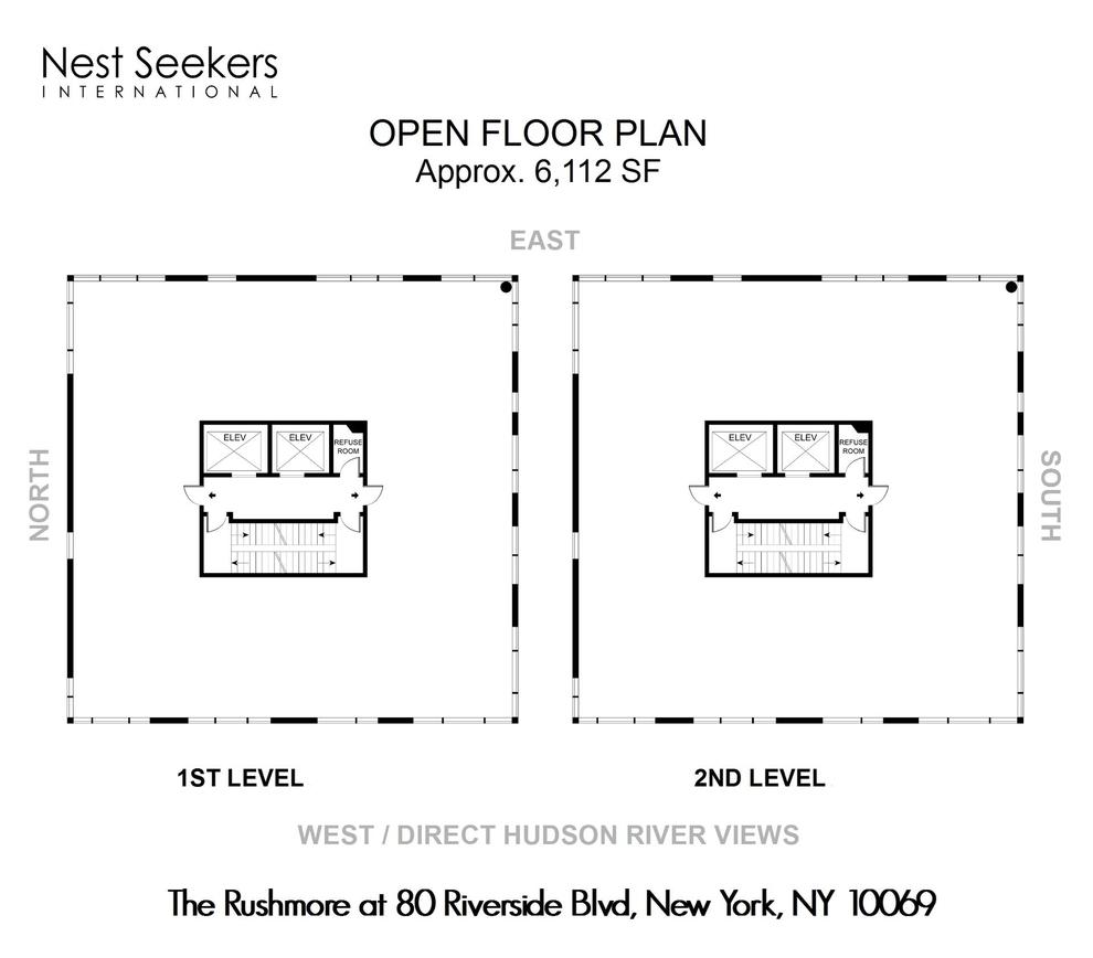 Unit PH2A at 80 Riverside Boulevard, New York, NY 10069