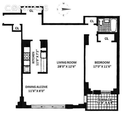 Unit 4E at 165 West End Avenue, New York, NY 10023