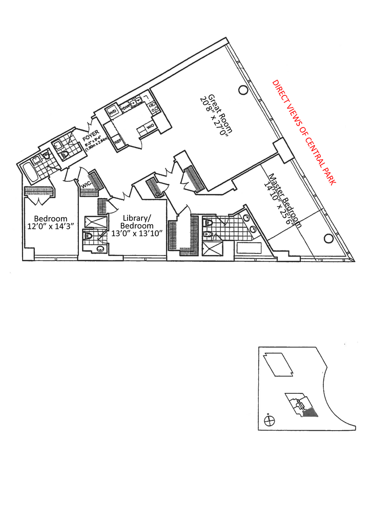 Floorplans At 25 Columbus Circle New York Ny 10019