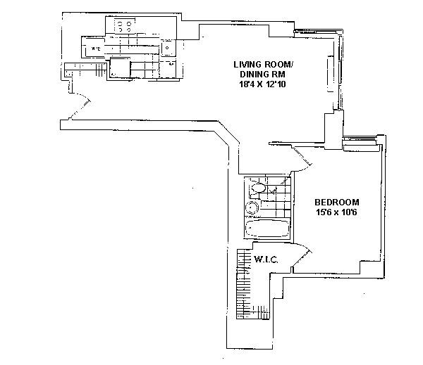 Unit 4E at 200 Riverside Boulevard, New York, NY 10069