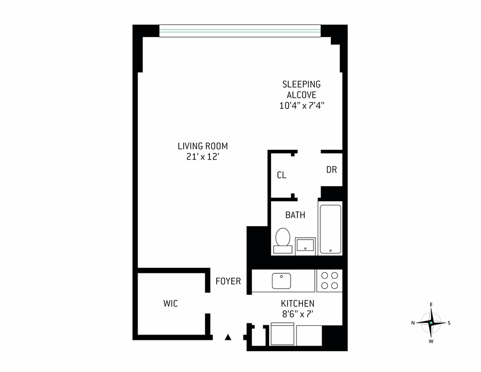 Unit 24R at 160 West End Avenue, New York, NY 10023