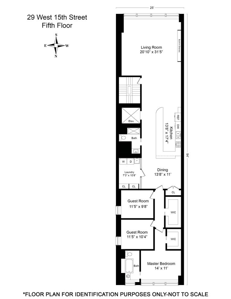 Unit 5 at 29 West 15th Street, New York, NY 10011